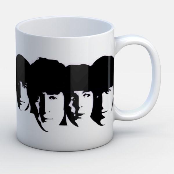 Beatles Inmortales caras - Jarro de cerámica personalizado